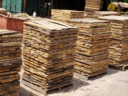 Reclaimed Pallet Boards in Bulk cube 800 pieces