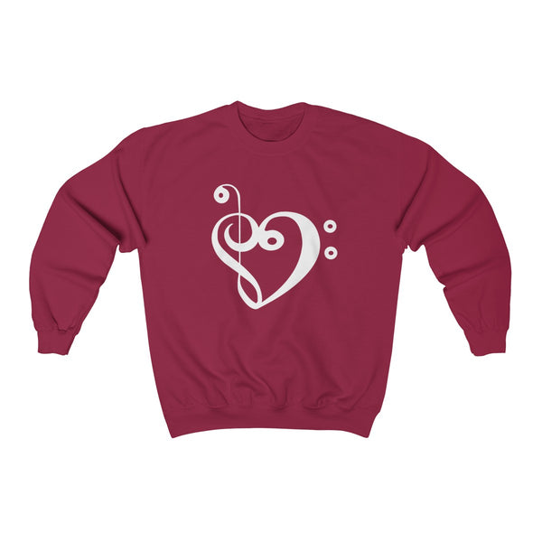 Unisex Bass & Treble love warm sweatshirt
