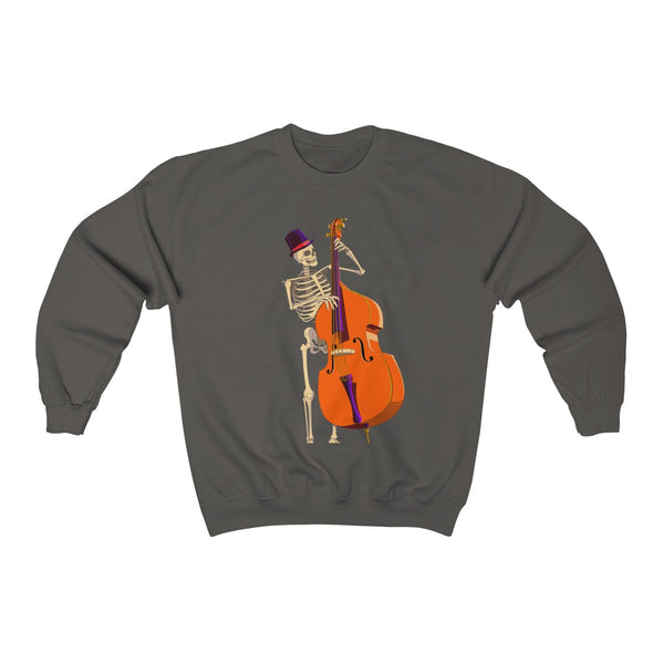 Double Bass Skeleton Unisex Crewneck Sweatshirt