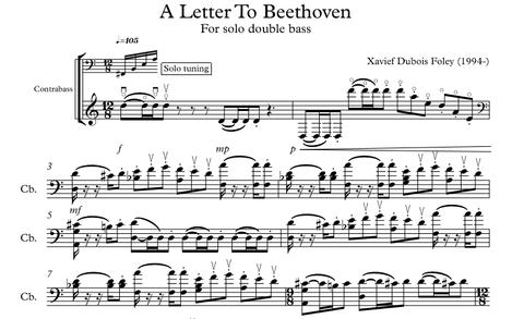A letter to Beethoven for Solo double bass