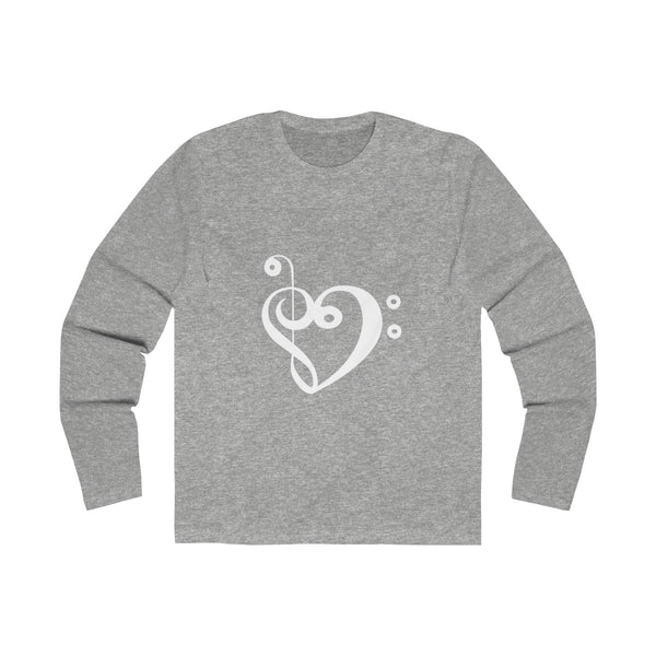 Men's Bass & treble love shirt long sleeve fitted