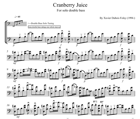 Cranberry Juice for SOLO double bass