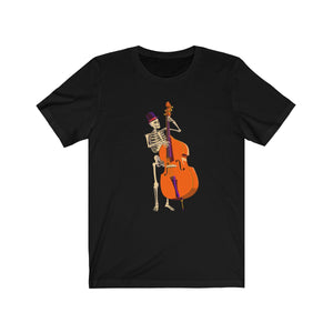 Double bass Skeloton Unisex Jersey Short Sleeve Tee