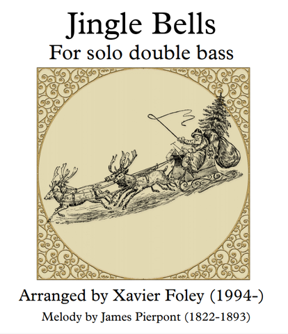 Jingle Bells arr. by Xavier Foley for Solo Bass