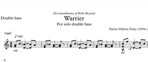"""Farewell"" for solo double bass"