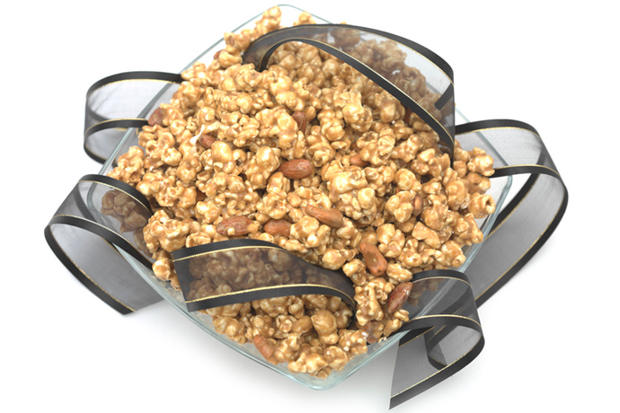 Caramel Toffee Corn with Cashews and Almonds