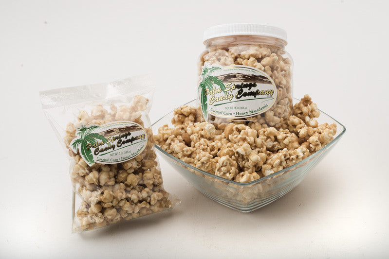 Honey Macadamia Nut Caramel Corn