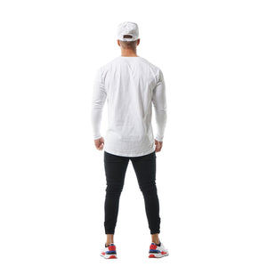 Faded Unfinished Business Long Sleeve - White