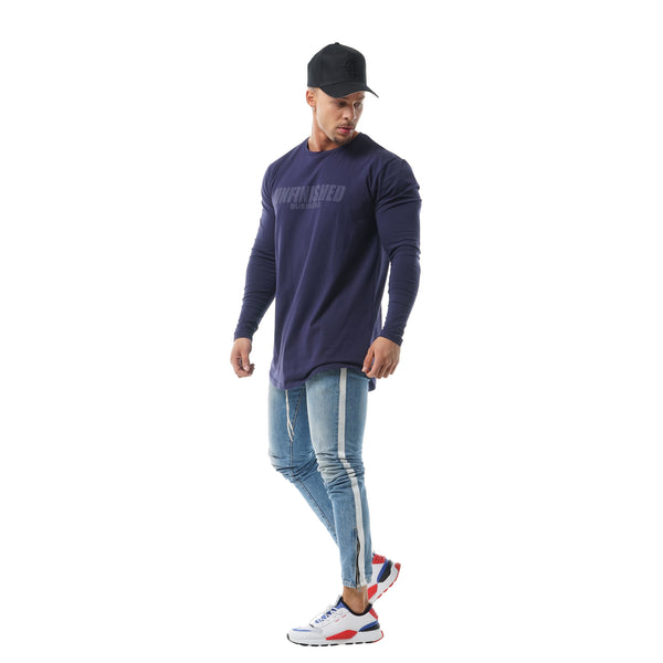 Faded Unfinished Business Long Sleeve - Navy
