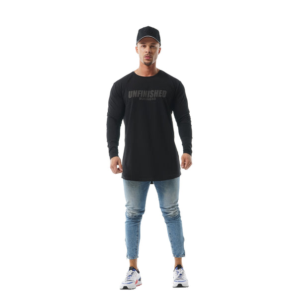 Faded Unfinished Business Long Sleeve - Black