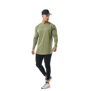 Faded Unfinished Business Long Sleeve - Olive