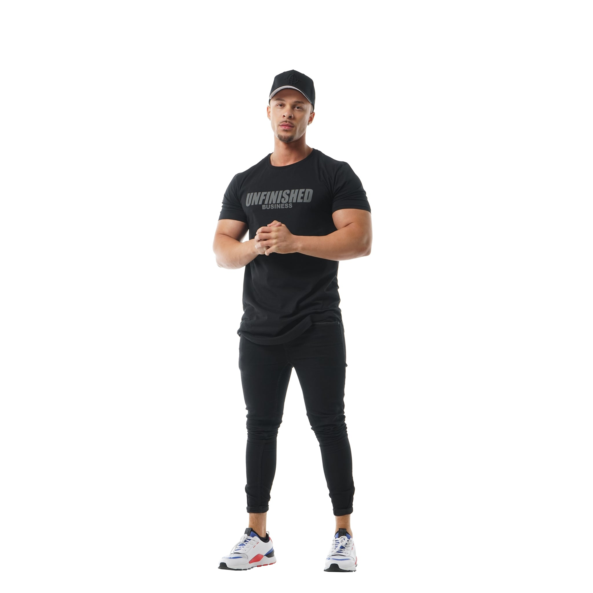 S2 BLACKOUT UNFINISHED BUSINESS CURVED HEM TEE