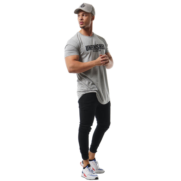 S2 STONE UNFINISHED BUSINESS CURVED HEM TEE