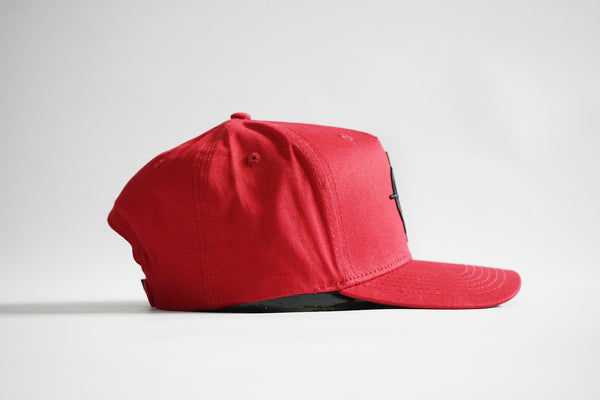 Baller 1.0 Aframe Snapback (Red)
