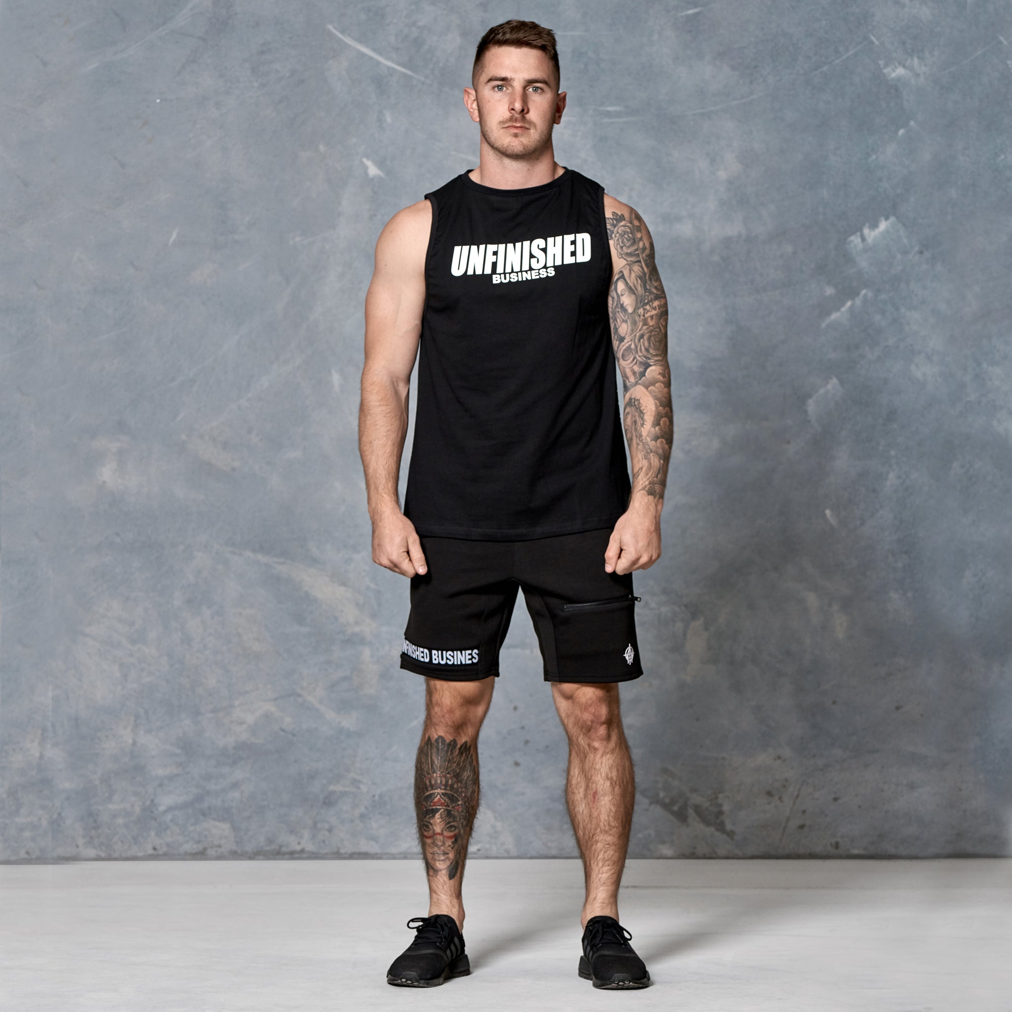 S2 Black Unfinished Business Muscle Tank