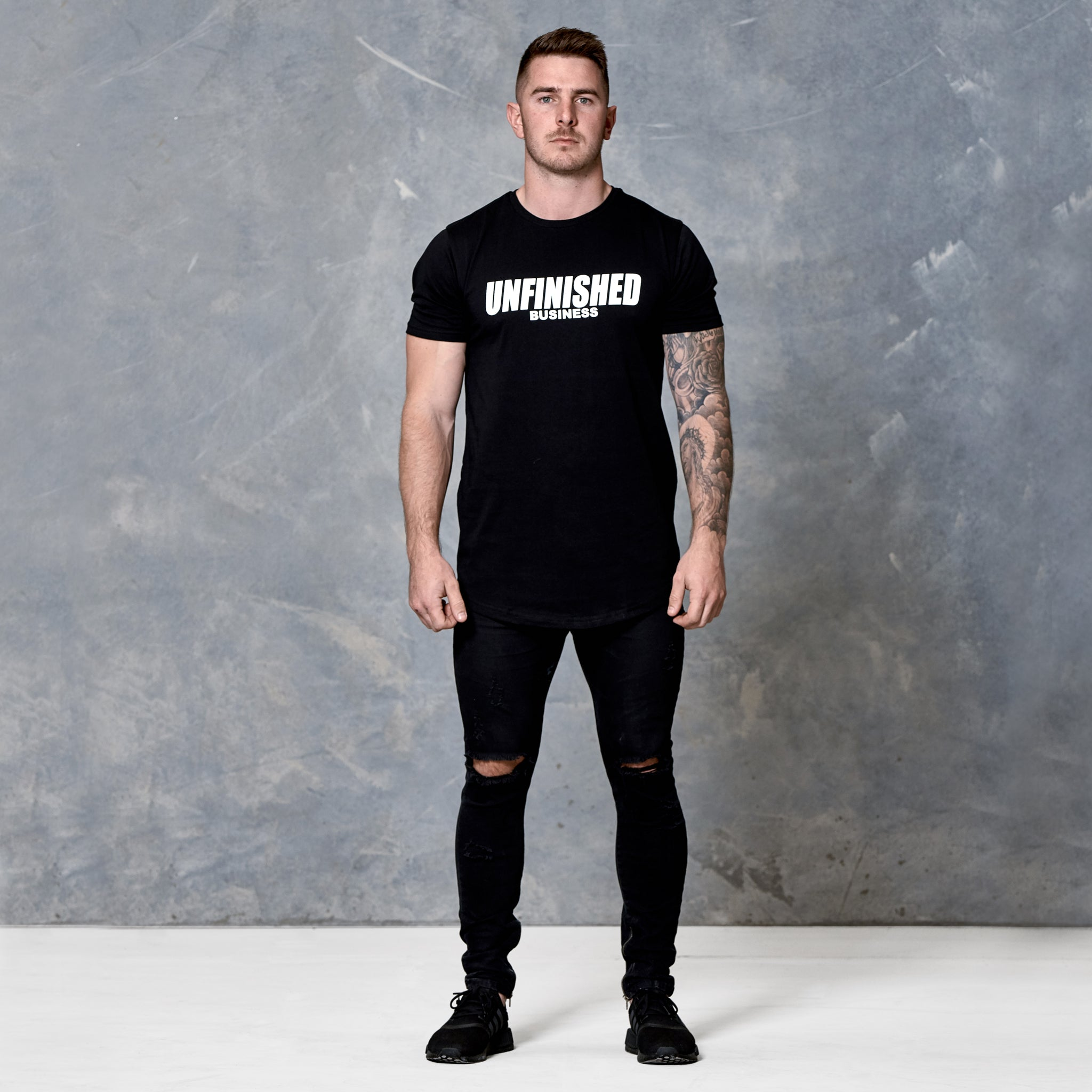 S2 Murdered Black Unfinished Business Curved Hem Tee