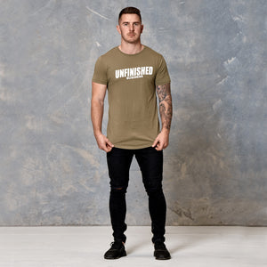 S2 Khaki Unfinished Business Curved Hem Tee