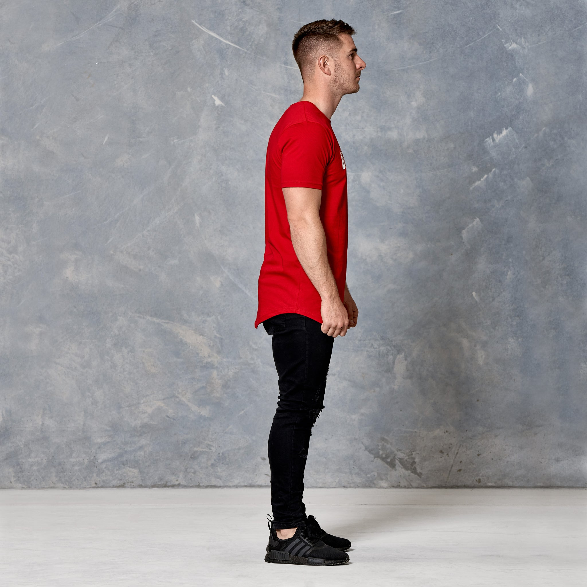 S2 Blood Red Unfinished Business Curved Hem Tee