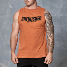 S2 Orange Unfinished Business Muscle Tank