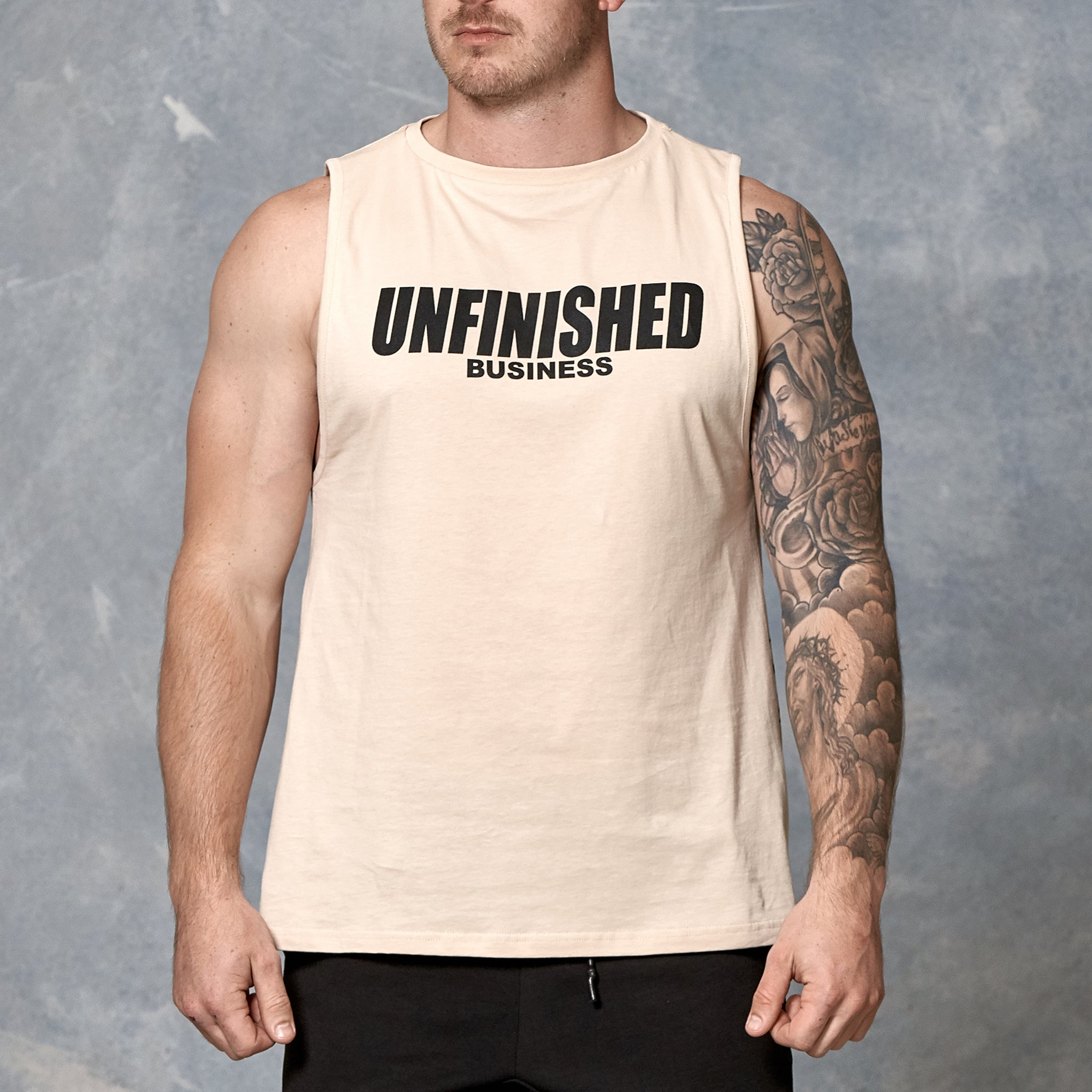 S2 Nude Unfinished Business Muscle Tank