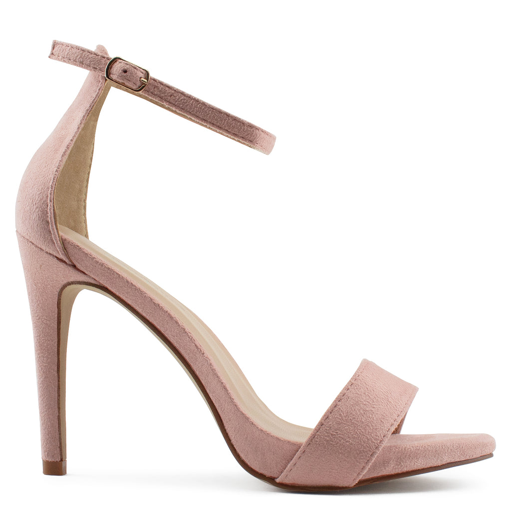 Ankle Strap High Stiletto Evening Dress Pump Heel Sandals BLUSH SU