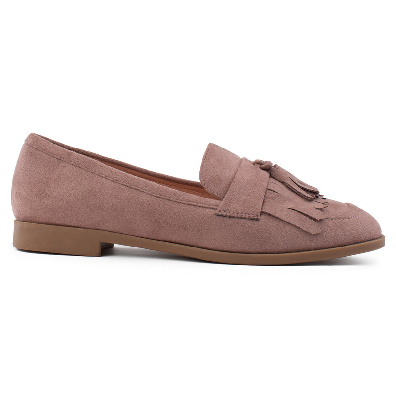Women's Square Toe Loafer Moccasin Comfortable Work Flats BLUSH