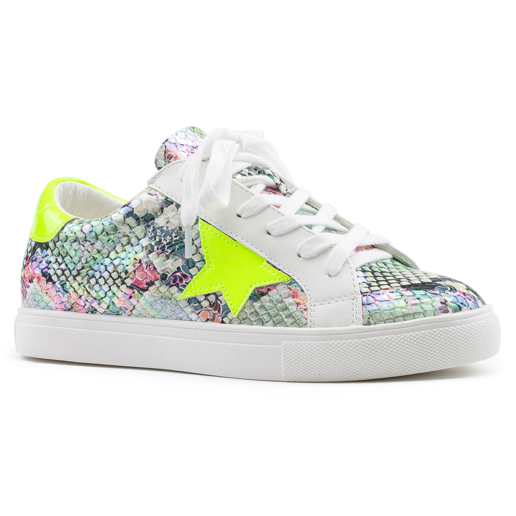 Women's Casual Low Top Trendy Fashion Sneakers Flats NEON GREEN