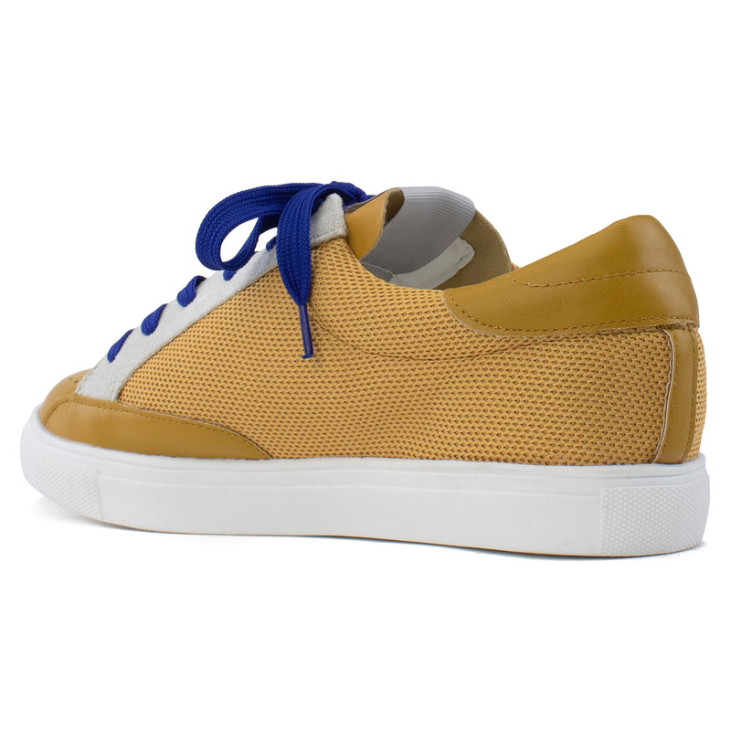 Women's Casual Low Top Trendy Fashion Sneakers Flats MUSTARD SUEDE
