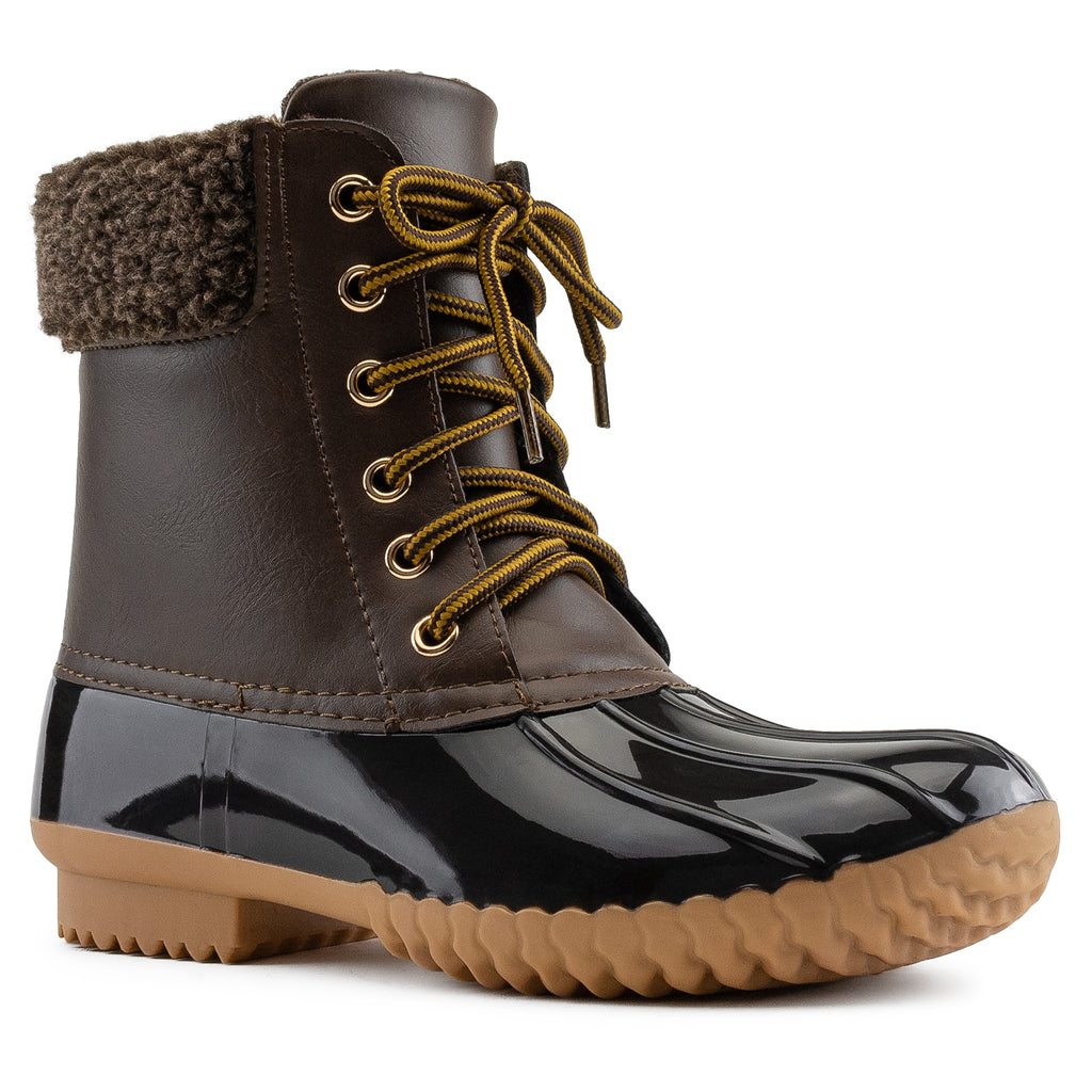 Water Resistant Fleece Lined Snow Boots BROWN