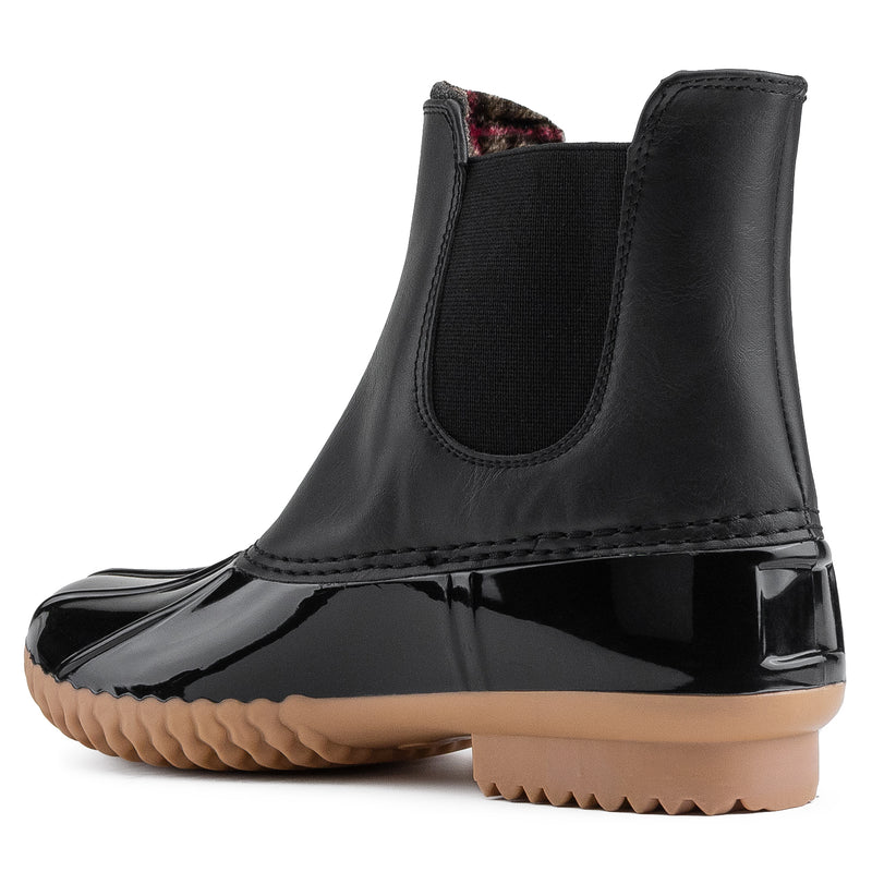 Water Proof Chelsea Ankle Rain Duck Boots BLACK