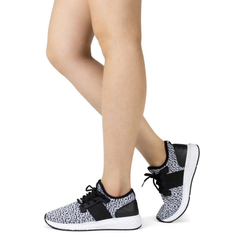 Women's Lightweight Running Tennis Shoes Athletic Sneakers BLACK