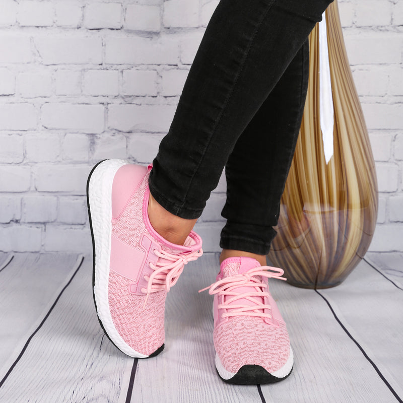 Women's Lightweight Running Tennis Shoes Athletic Sneakers PINK