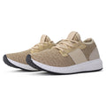ROF  Lightweight Flyknit Low Top Lace Up  Sneaker TAUPE