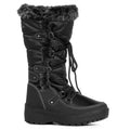 Frozen-01 Snow Boots in Black Nylon