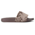 ROF Kaden-01 Velvet Slip On Slide Sandals in Coffee