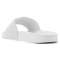 ROF Kaden-01 Velvet Slip On Slide Sandals in White