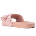ROF Kaden-06 Slip on Slide Sandals in Pink Suede