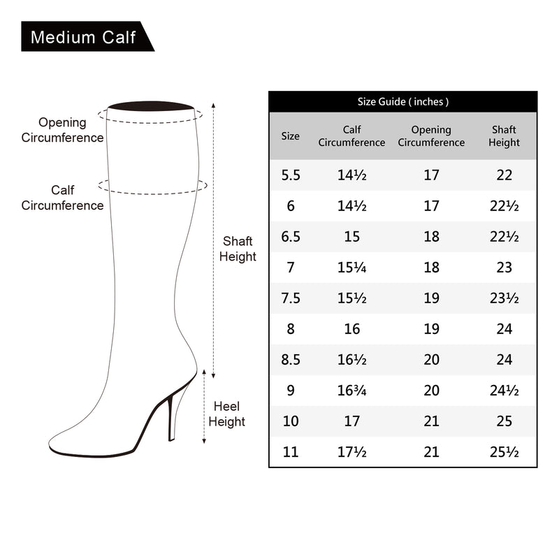 Women's Block Heel Pullon Over The Knee Boots - Medium Calf GREY