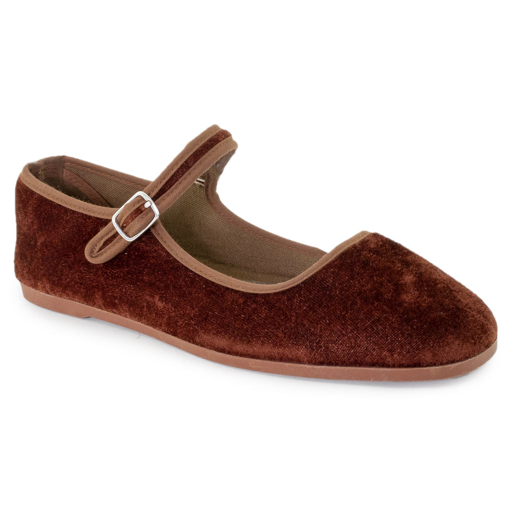 Mary Jane Ballet Flats Slip On Ballerina Flat Shoes BROWN