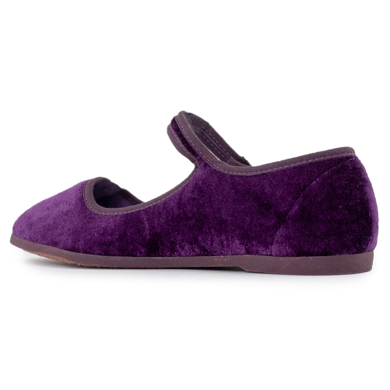 Mary Jane Ballet Flats Slip On Ballerina Flat Shoes PURPLE