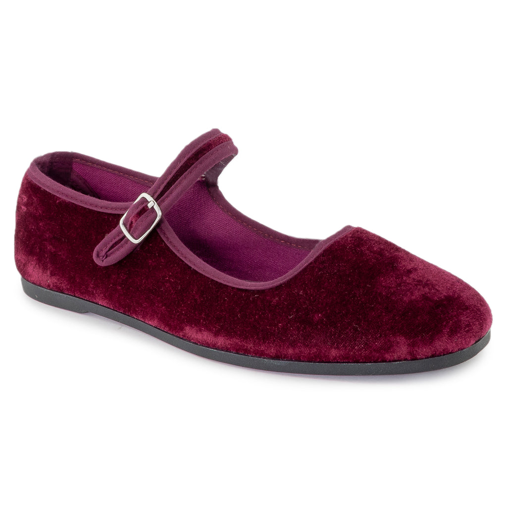 Mary Jane Ballet Flats Slip On Ballerina Flat Shoes WINE