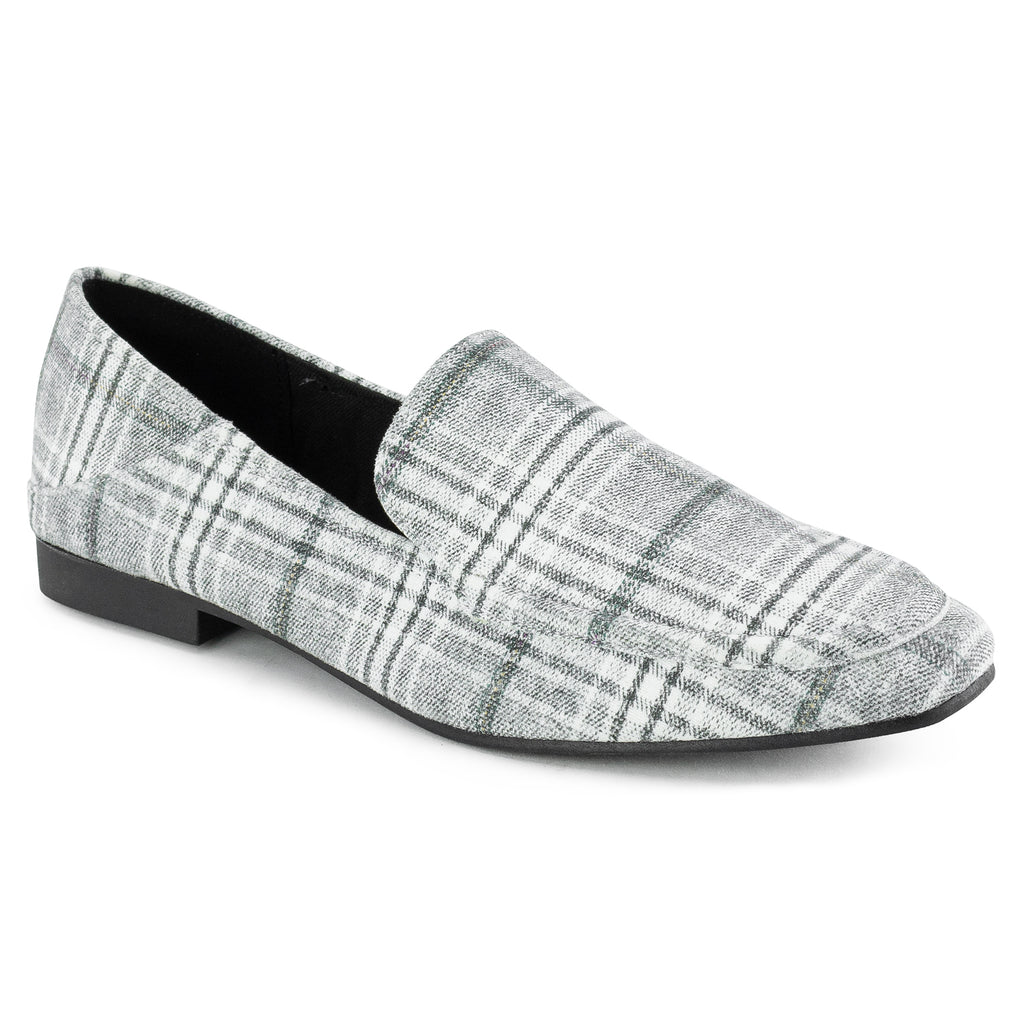 Feather Light Comfortable Classic Square Toe Flats Loafers GREY