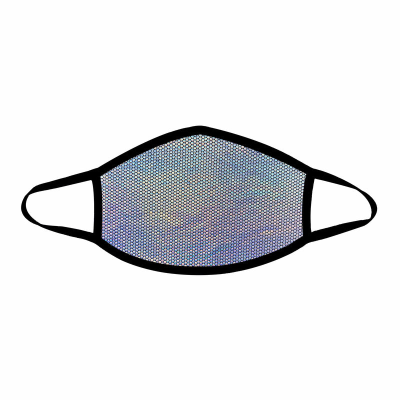 Liquid Party Silver Holographic Face Mask (Non-medical)