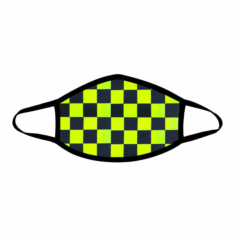Talladega Neon Checkered Face Mask (Non-medical)