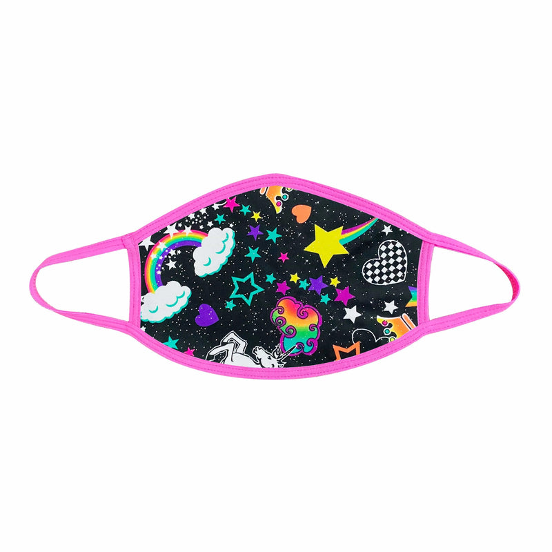GIRL CRUSH NEON UV PINK FACE MASK (Non-medical)