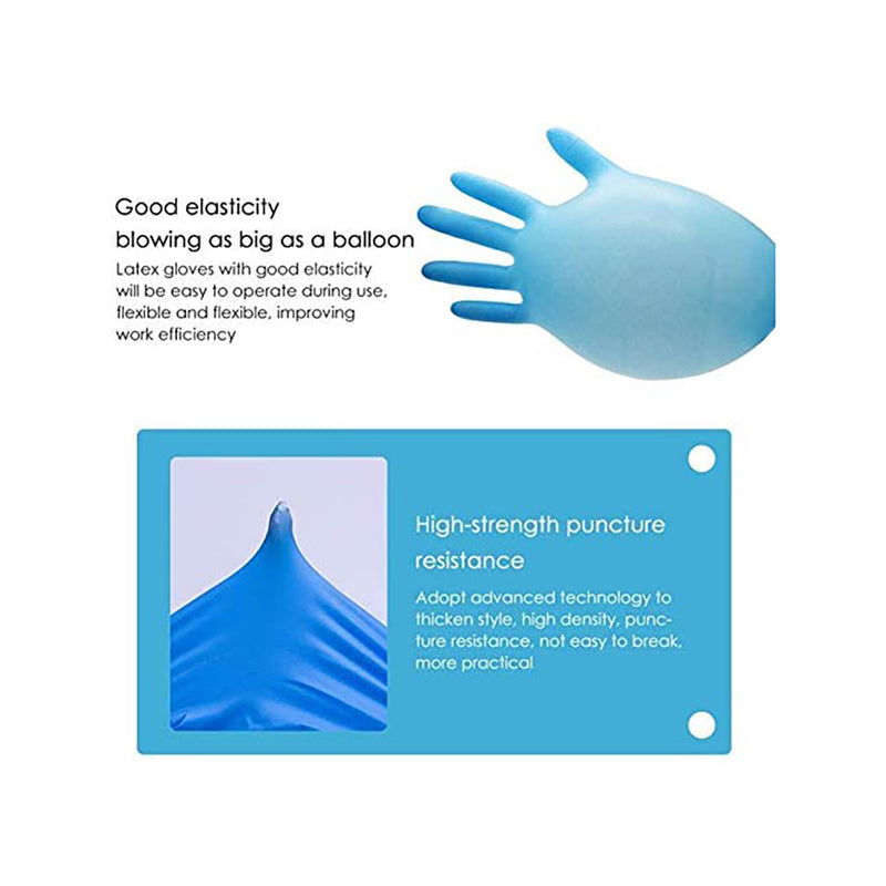 Nitrile Gloves, Profession Grade,Disposable,Food Safe,Non Latex,Powder Free, 4 mil Thickness, Convenient Dispenser 100 Pack (Medium (Blue))