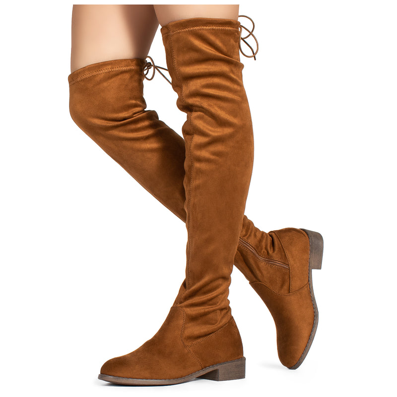 """Medium Calf"" Pointy Toe Slouchy Knee High Boots BURGUNDY"