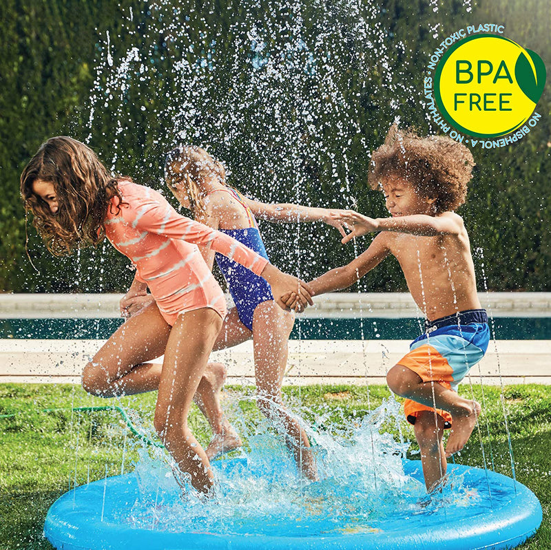 "69"" Large Inflatable Splash Pad Sprinkler for Kids Toddlers, Kiddie Baby Pet Play Pool, Outdoor Games Water Mat Toys - Baby Swimming Pool - Fun Backyard Fountain Play Mat for 1 -12 Year Old Girls Boys"