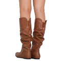 RF Touched-11 Boots TAN PU WITH POCKETS