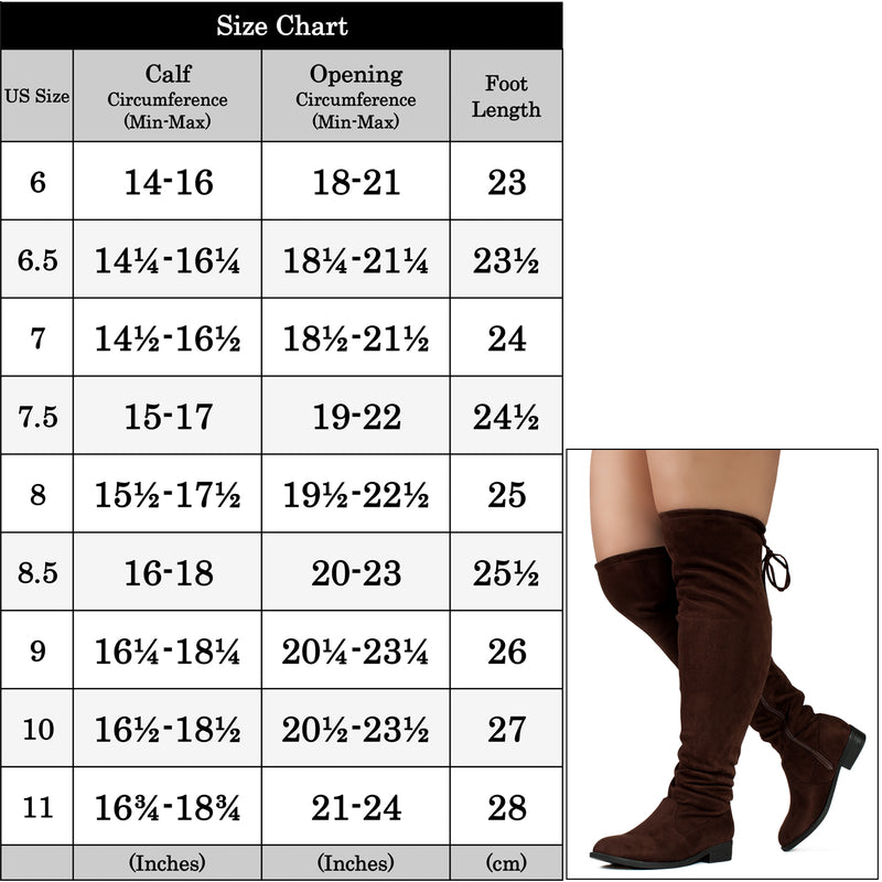 """Wide Calf & Width"" Stretchy Over The Knee Sock Boots BROWN"